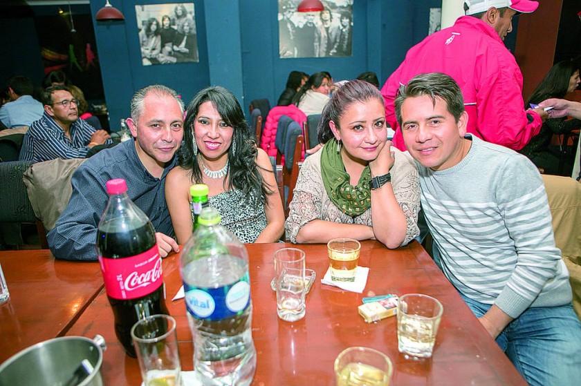 Alfredo Daza, Rosa Montaño, Paola Barriga y Juan Pablo Chavarría.