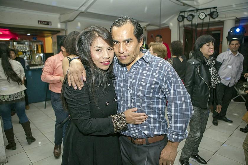 Claudia Valda y Oscar Estrada.