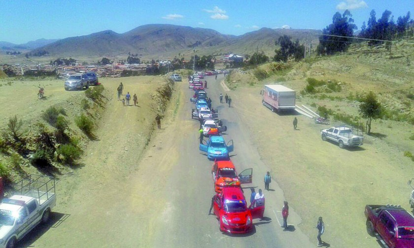 La primera etapa de la décima carrera departamental se corrió ayer entre Tarabuco y Cororo.