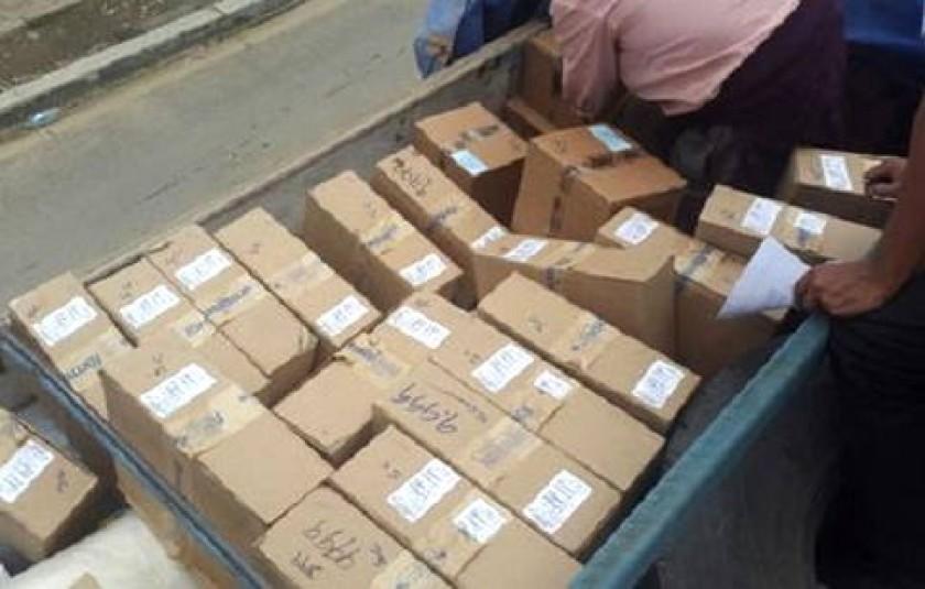 Los paquetes fueron sustraídos de un camión. Foto: La Razón
