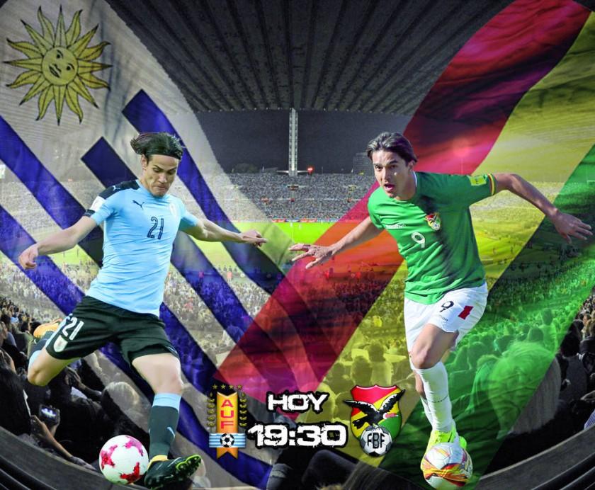 El uruguayo Edinson Cavani y el boliviano Marcelo Martins liderarán a sus selecciones, esta noche, en Montevideo.
