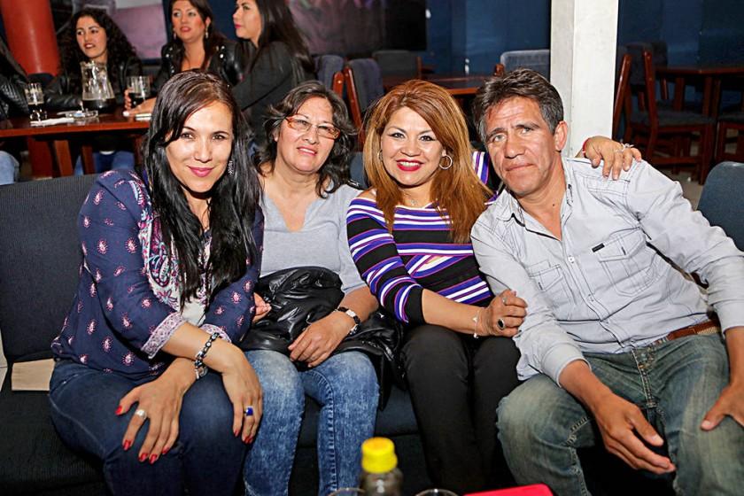 Heidi Alurralde, Ronilda Escalante, Miriam Torres y José Ávalos.