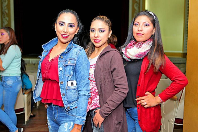 Patricia Iñiguez, Soledad Mariscal y Patricia Moreira.