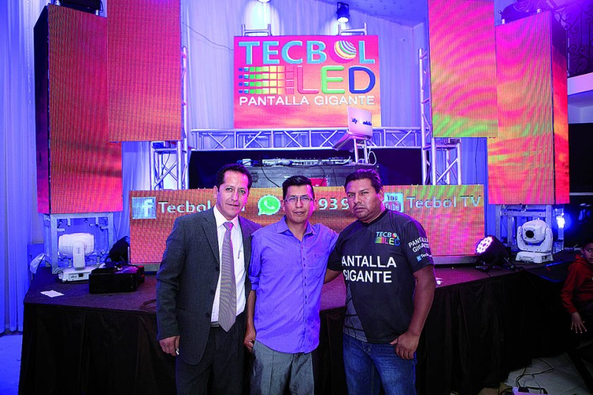 Audix y Tecbol: Freddy Muñoz, Dj Aldo y Evert Quiñones.