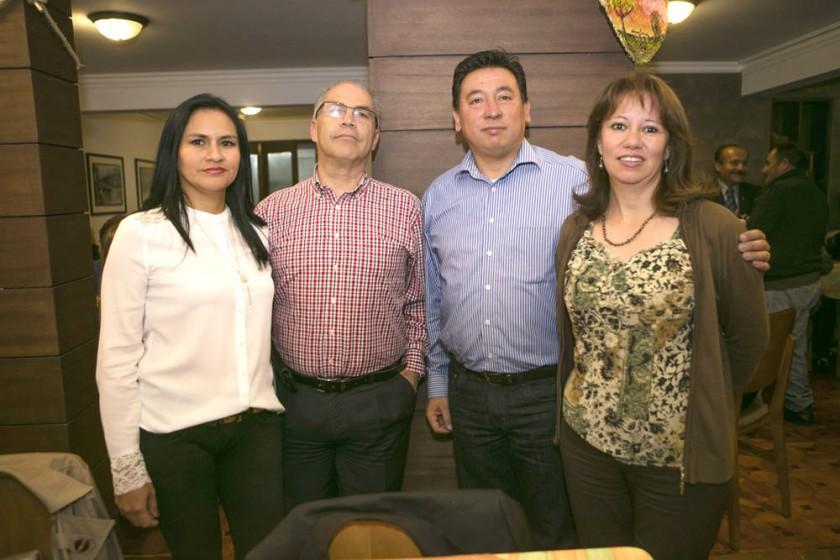 Margoth Paniagua, Jorge Fuentes, Gustavo Poppe  y Ariane Nogales.
