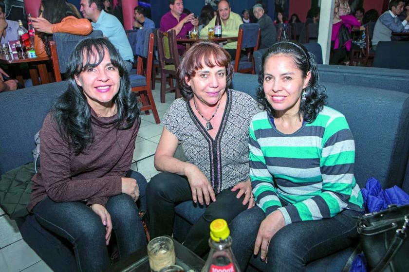 Jimena, Ana Rosa y Marcela Ortiz.