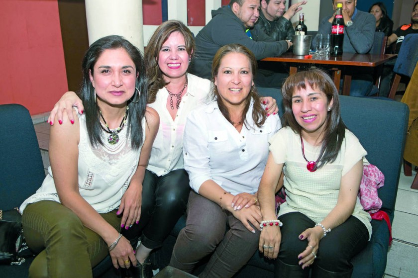 Azucena, Margarita, Paola y Marlene.
