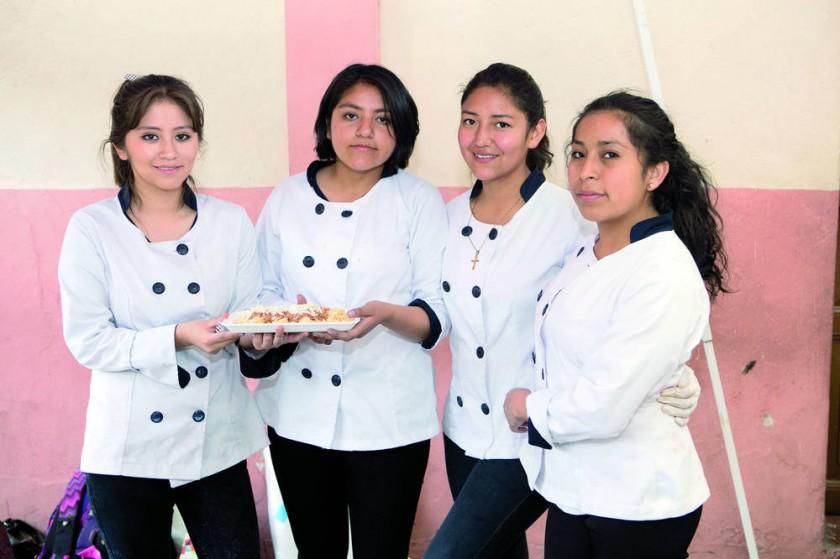 Linda Loredo, Alejandra Céspedes, Isabel Rueda y Mayte Sánchez.