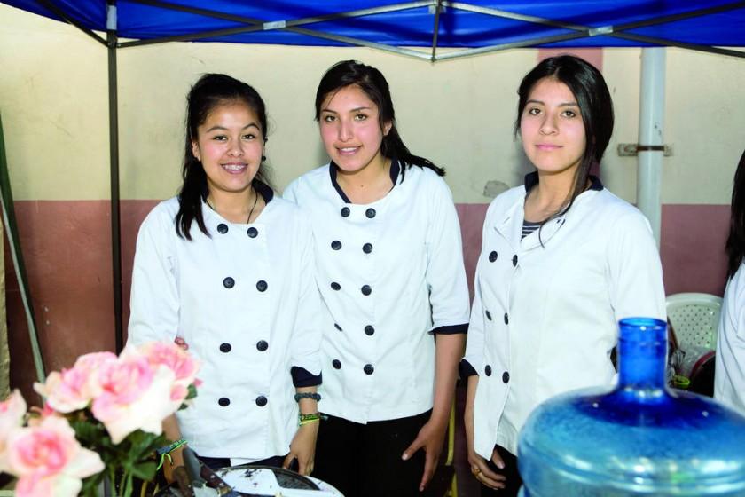 Salma Ordoñez, Belén Orozco y Luana Novelle.
