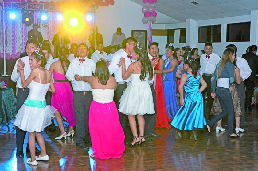 El momento  del baile.