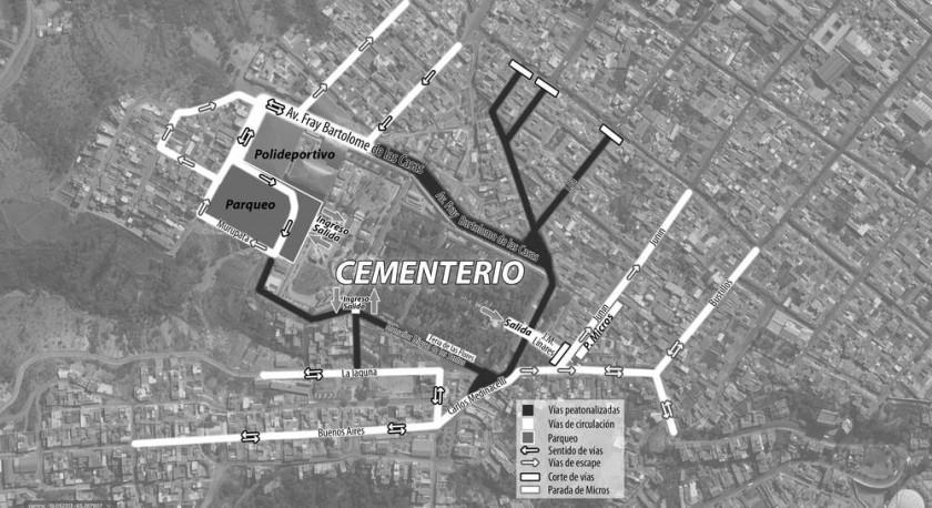 PLANO. Estas calles estarán cerradas para el tráfico vehicular a partir del miércoles 1 de noviembre.