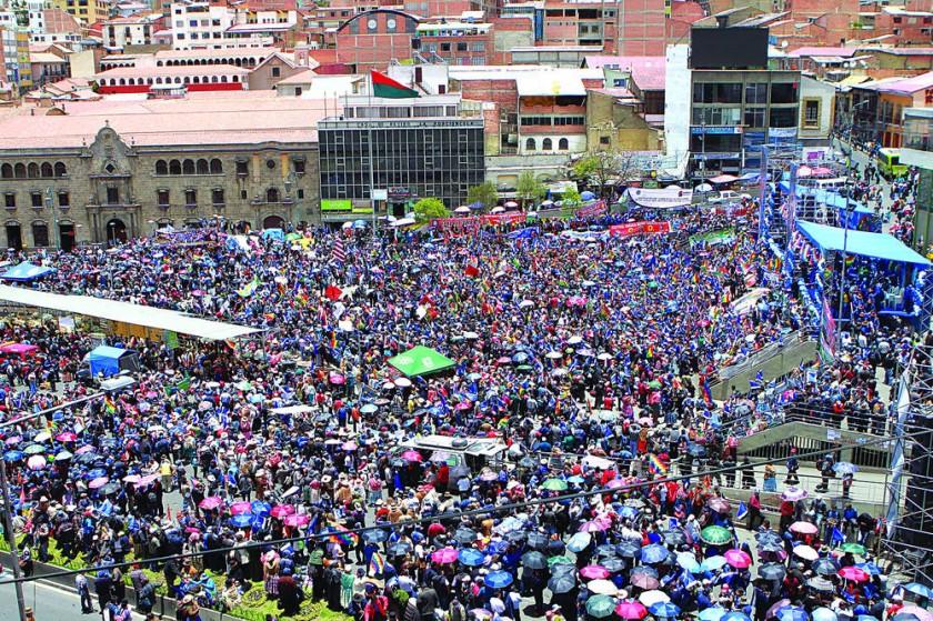 Reelección: MAS exhibe músculo en La Paz