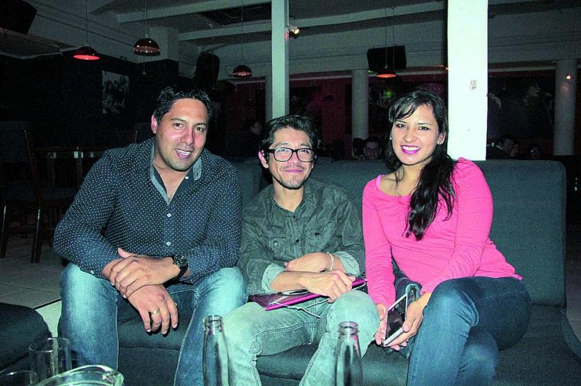 Andrés Petersen, Daniel Delgado y Cecilia Miranda.