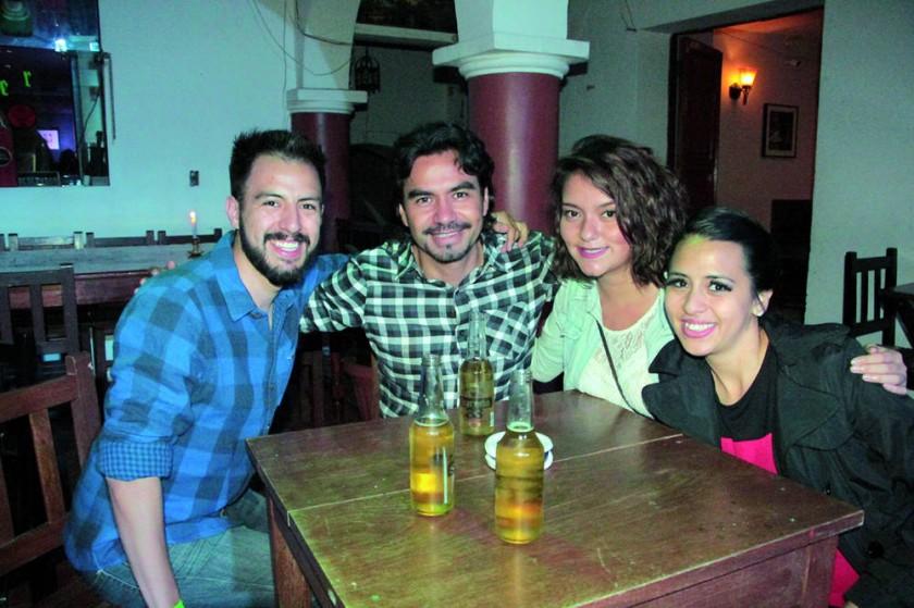 Ismael Alarcón, Iván Salinas, Noelia Salinas y Carolina Alarcón.