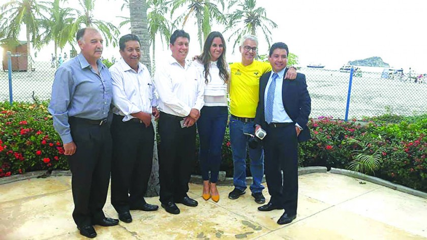 La comitiva de Sucre que asistió al congreso ordinario de la Organización Deportiva Bolivariana ayer, en Santa Marta.