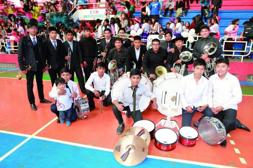"""Banda de Música del colegio """"La Recoleta""""."""