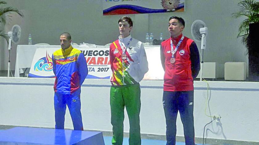 Juan Pablo Canedo obtuvo el bronce en taekwondo