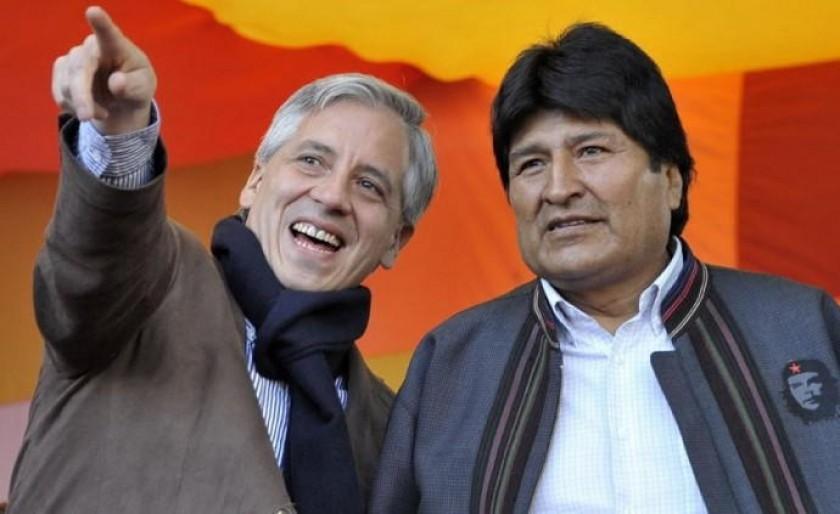 Evo Morales (d) podrá postularse nuevamente. Foto: Archivo