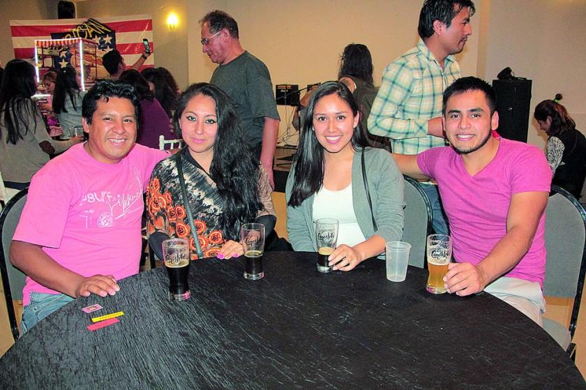 Roberto Castro, Amada Quispe, Kadeem Zenteno y Alejandro Ancasy