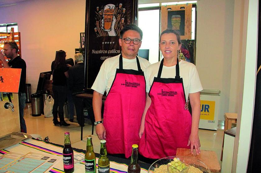 Cerveza artesanal Sumeria: Jorge Antonio Rendón  y Andrea Cecconi.
