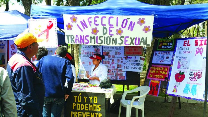SENSIBILIZACIÓN. La Exposida y el Festival de Canto del Programa ITS/VIH/SIDA, ayer.