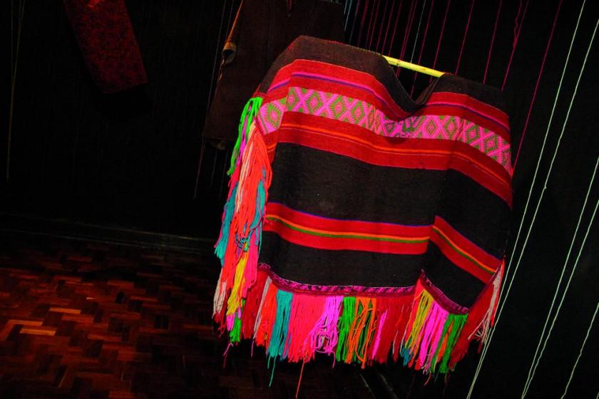 Poncho Jalq'a que se utiliza en la danza Liberia.