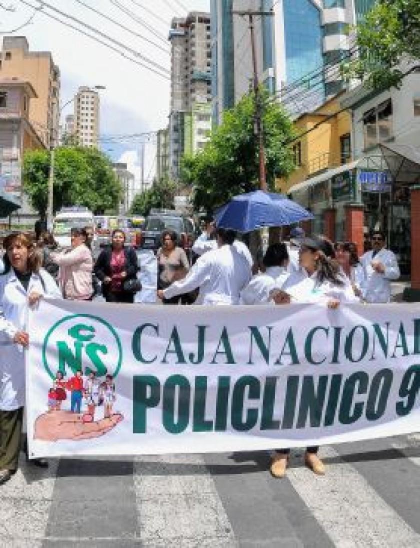 HUELGA. Por tercera semana consecutiva hay medidas de presión del sector sanitario.