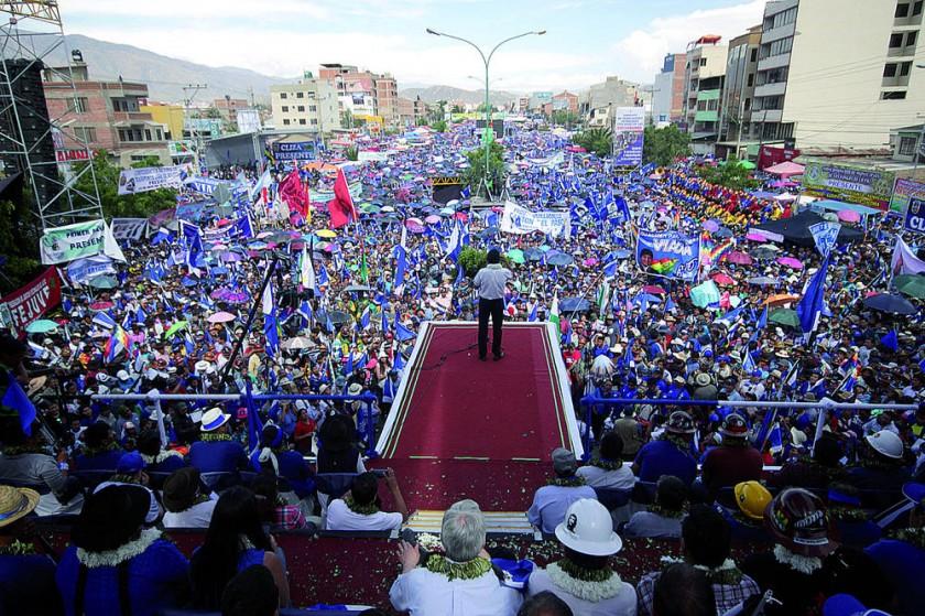 COCHABAMBA. Evo Morales fue proclamado nuevamente como candidato del MAS.