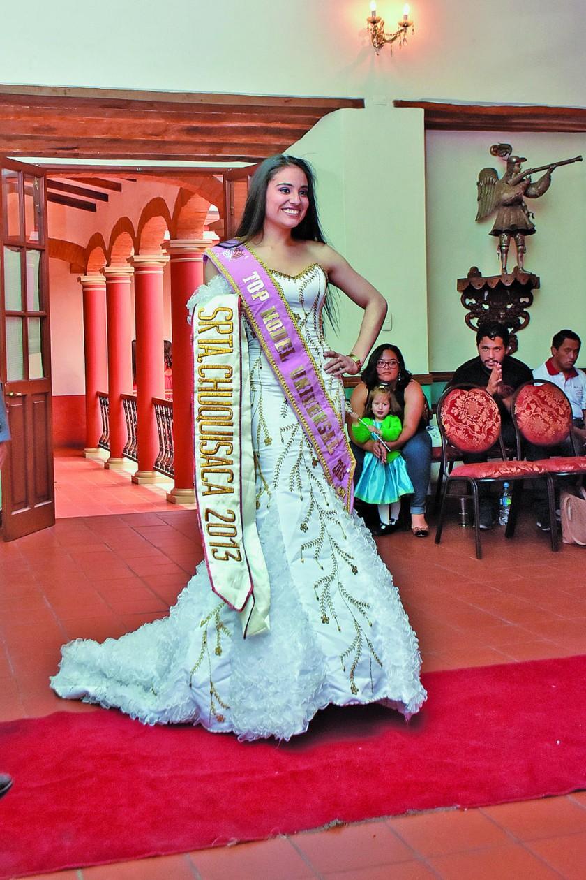 Geraldine Mercado Señorita Chuquisaca 2013.