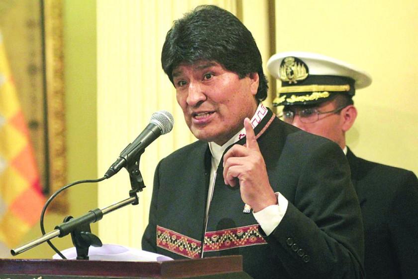 POSTURA. El presidente Evo Morales.