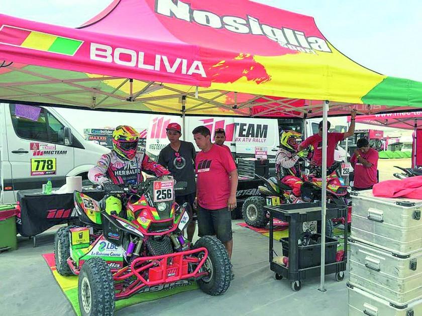 Dakar sacude al Team Bolivia