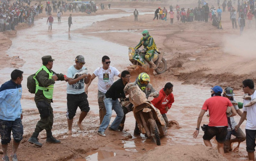 En la primera incursión del Dakar a Bolivia, sólo ingresaron motos y quads.