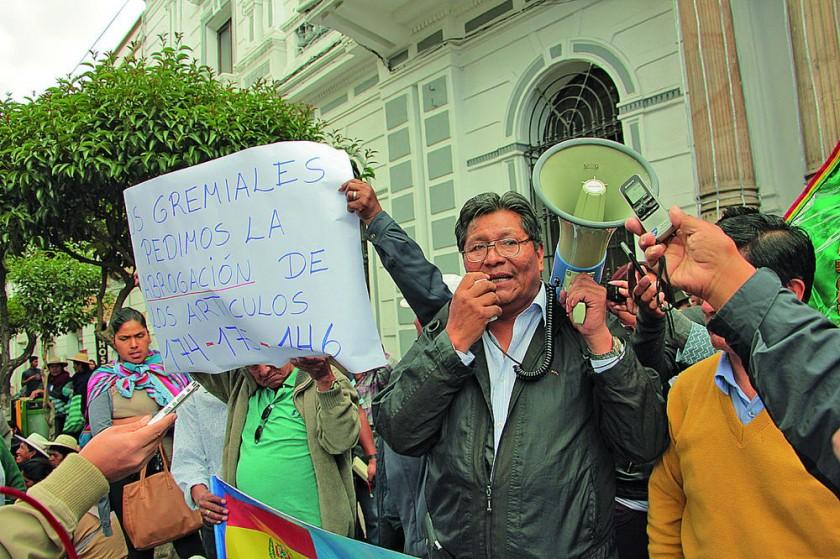 GREMIALES. La protesta de la Federación de Minoristas.