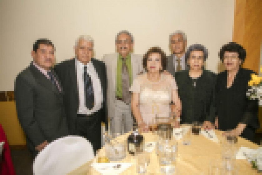 Teresa Arteaga, Jael de Arteaga, Bertha Méndez, Elizabeth Pérez, Roxana Loayza y Fátima Loayza.