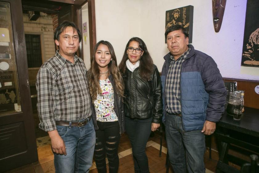 Elías Huerta, Mónica Huerta, Neslie Arandia y Jorge Huerta.