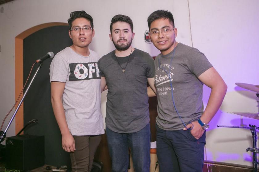 El grupo Evia: Javier Rojas, Gustavo Hevia y José Bravo.