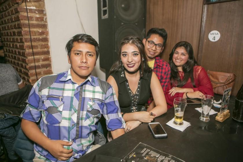 Wilson, Andrea, Sergio y Nicol.