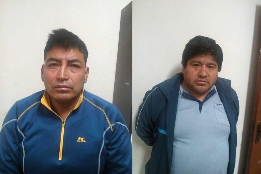 Los dos atracadores que se hicieron pasar por Policías. Fotos: Gentileza