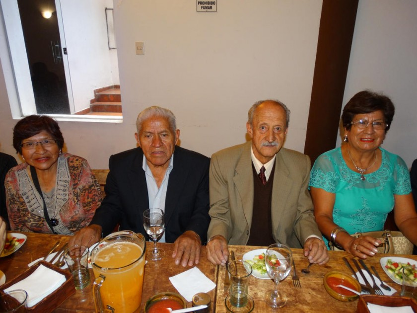 Olga Antequera, Renato Vega, Néstor Villanueva  e Inocencia Calderón.