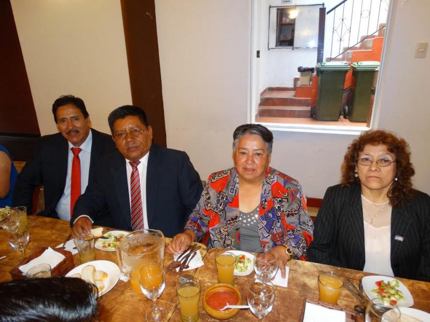 Rafael Sandi, Walter Torres, Mercedes Cors y Dolly Pardo.