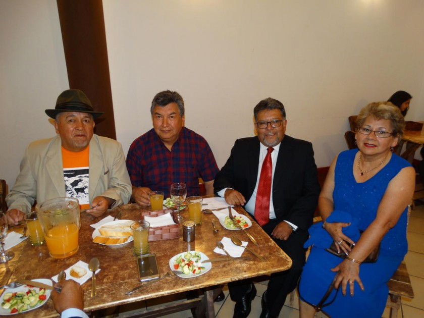 Javier Ramos, Lidio Carrasco, René López y Martha Vargas.