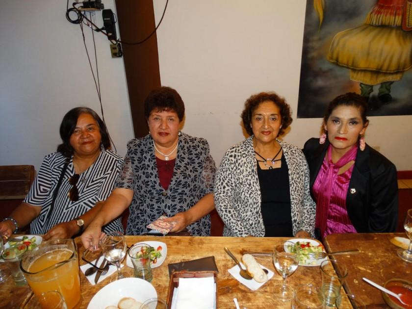 Aurora Orihuela, Martha López, Ana María Lozada  y Dora Rosemary Romay.