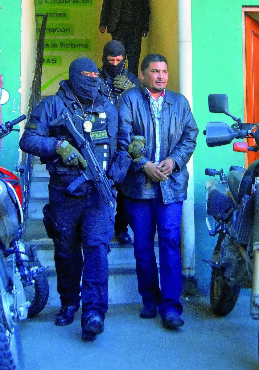APREHENDIDO. El ex dirigente unionista fue trasladado a La Paz.