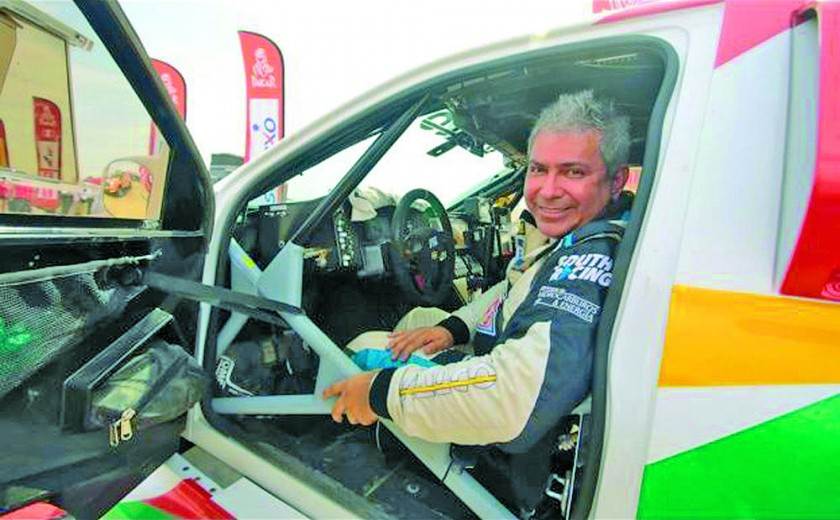Marco Bulacia, en coches, Daniel Nosiglia, en motos, Leonardo Martínez y Hernán Paredes, en quads. sacaron cara...
