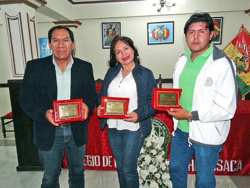 José Caballero, Mercedes Morales y Jorge Soto.