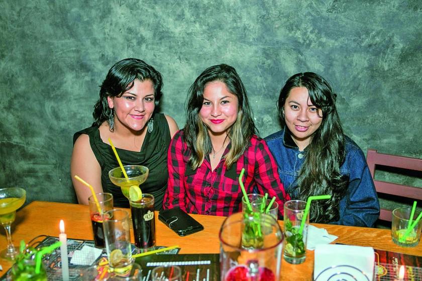 Ninoska Salas, Verónica Numbela y Carla Ríos.