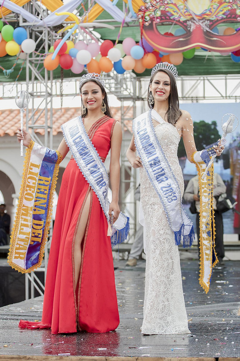 Jemima Ferreira Da Silva, Reina Carnaval Militar y Carla Vargas, Señorita Carnaval Militar.