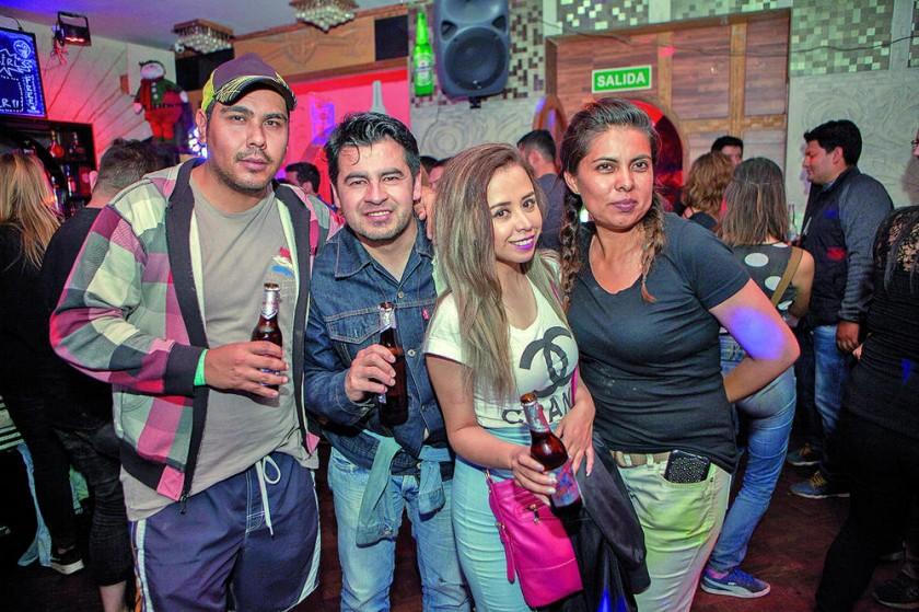 Juan, Boner, Fabiola y Patricia.