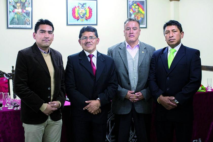 Gilmar Jaldín, Pascual Yampa, Sandro Mariane y Ryldho Ramos.