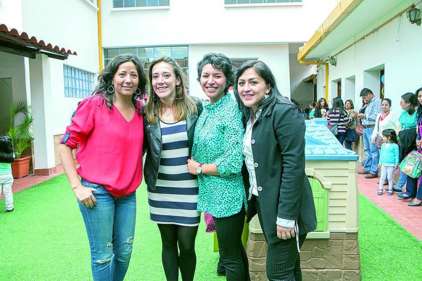 Kristel Palma, Francesca Oña, Edelmira Velásquez  y Melba Hervas.